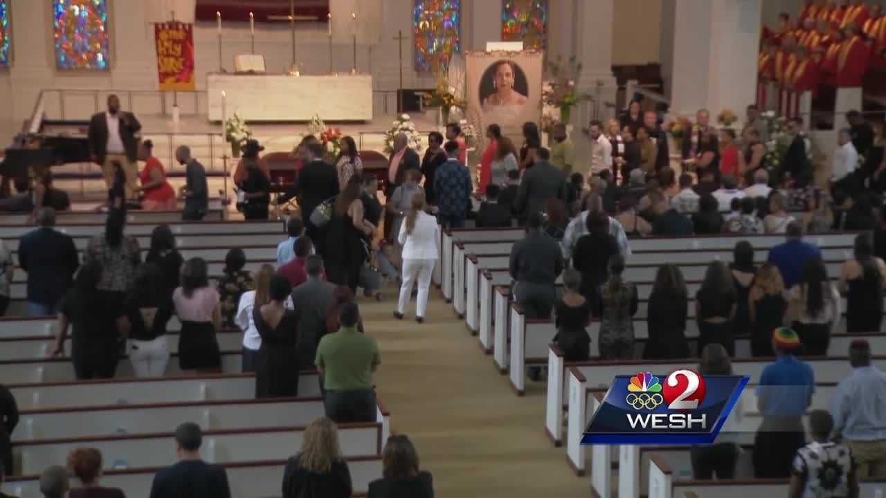 More victims of the shooting were laid to rest Monday, as dozens came out to remember them. Gail Paschall-Brown reports.