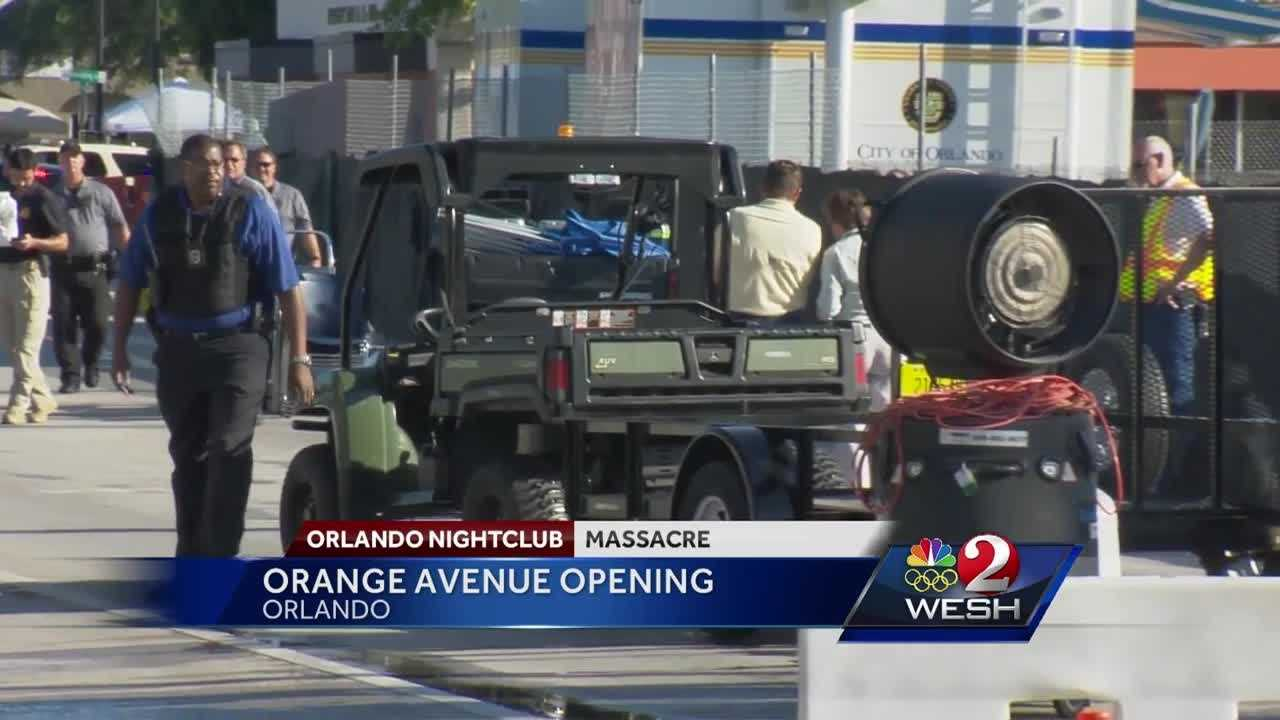 Traffic was moving near Pulse nightclub Monday night. The city announced the northbound lanes and most other roads impacted by the FBI investigation into the Pulse massacre reopened Monday night. Matt Lupoli reports.