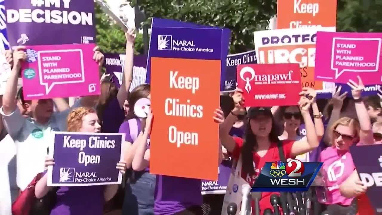 Big news from the Supreme Court Monday: in a 5-3 decision, the justices struck down a controversial Texas law which put new restrictions on clinics. WESH 2's Amanda Ober looks at the ruling, and the law that will soon take effect in Florida.
