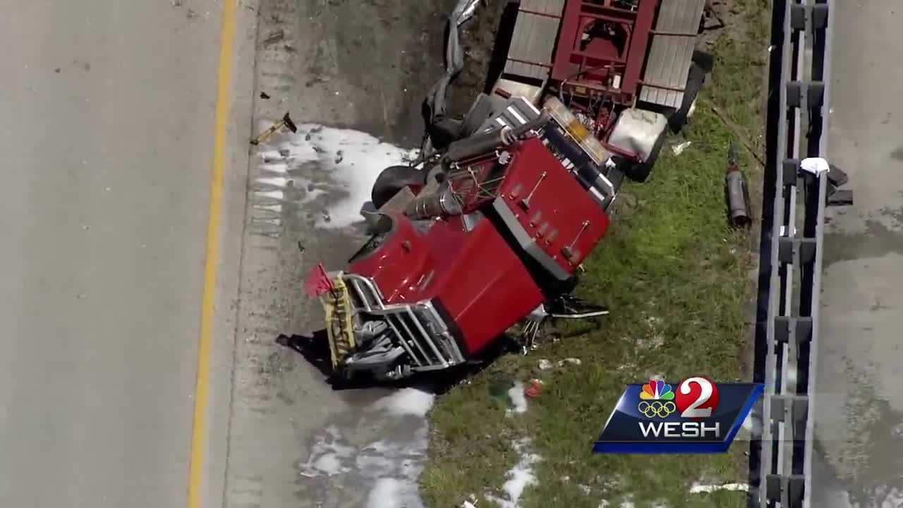 A deadly crash stops traffic for hours Thursday on I-95 near Palm Bay. Matt Grant reports.