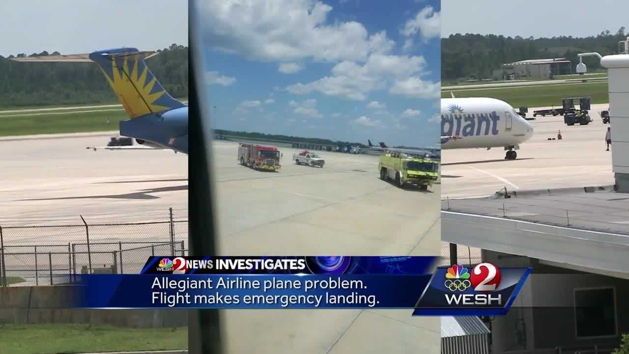 Allegiant Airlines confirmed to WESH 2 News that flight 749 from South Bend, Indiana to Orlando-Sanford Intl. Airport had to make an emergency landing in Jacksonville Wednesday afternoon after reports of an electrical odor in the cabin. Chris Hush reports.