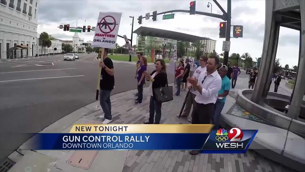 Gun control activists gathered in the streets of downtown Orlando on Thursday, calling for action in the wake of the Pulse nightclub massacre. They're calling for, among other things, stricter laws against assault rifles. Summer Knowles reports.
