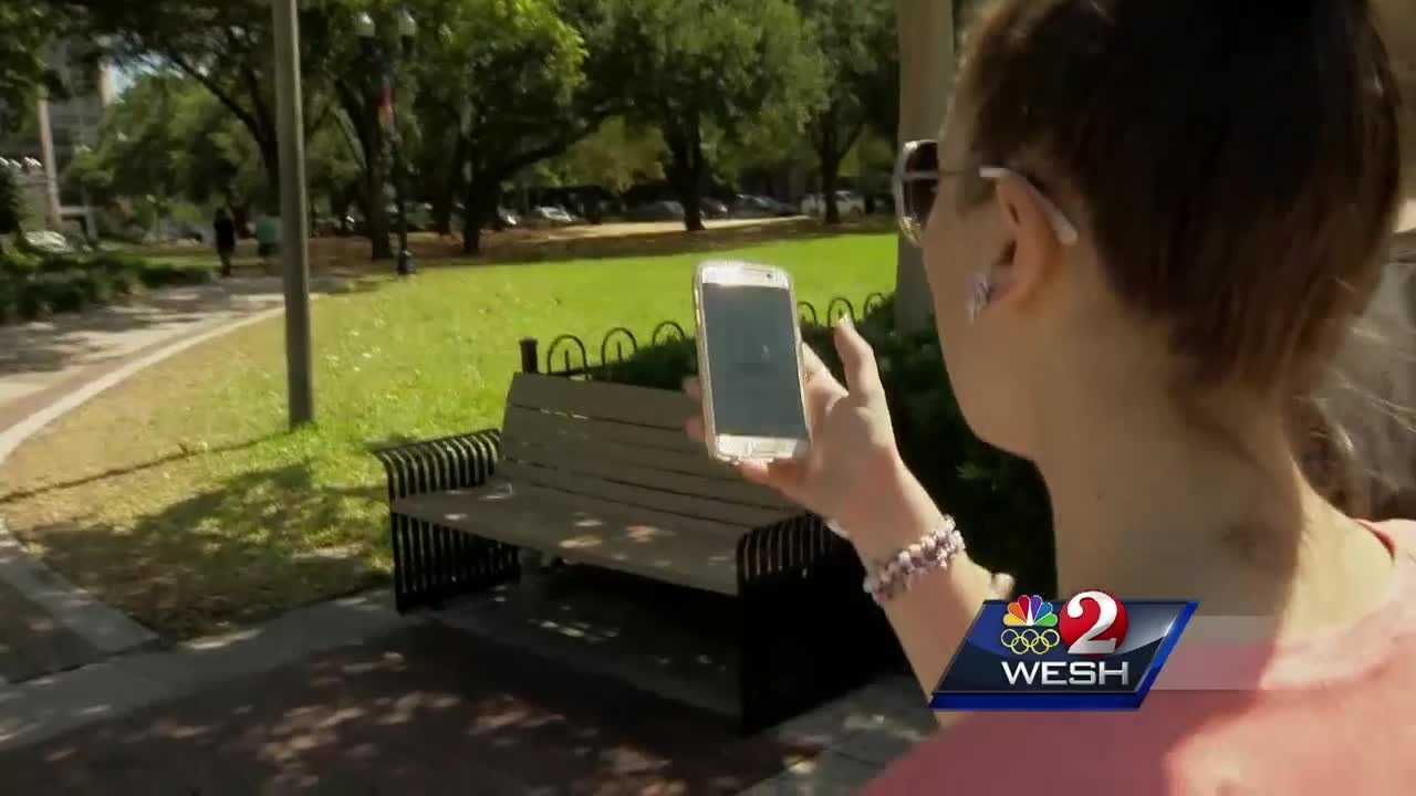 It's an app that's captivated people across Orlando. Pokemon GO is a virtual reality game that prompts users to find characters around the city. Amanda Crawford reports.