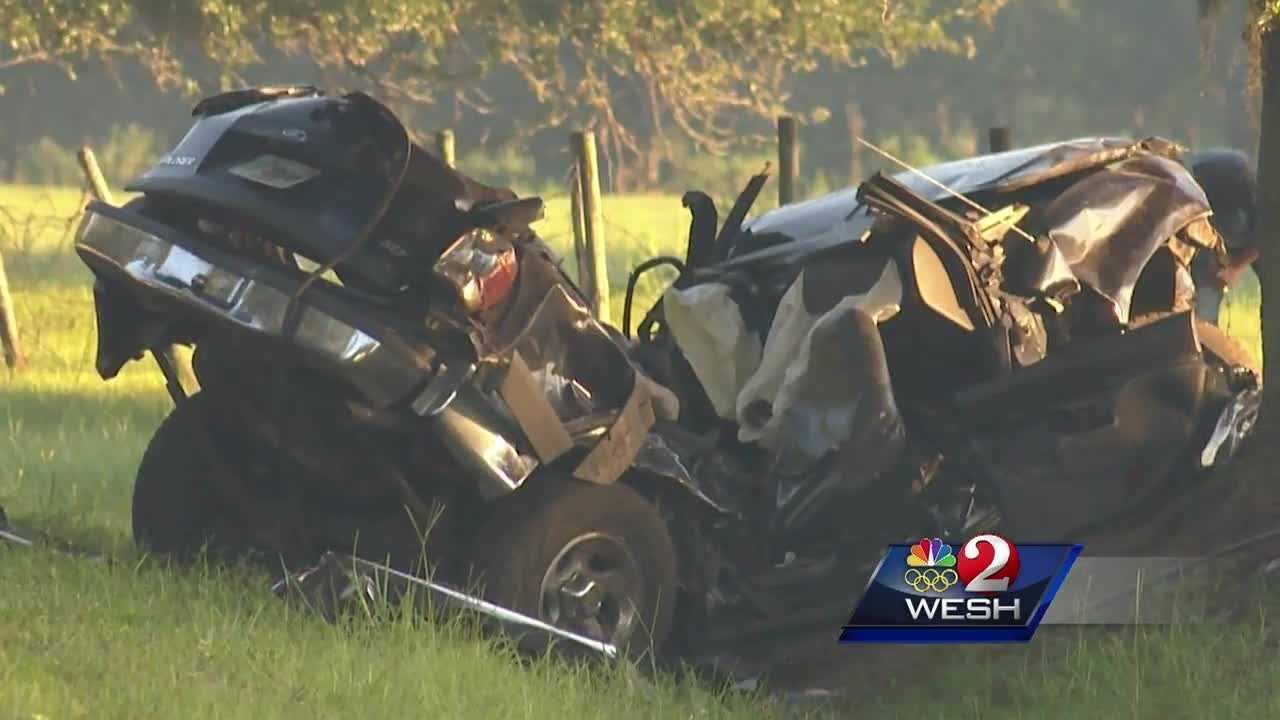 Two people were killed and a third person was injured in a crash in east Orange County early Thursday morning, the Florida Highway Patrol said.