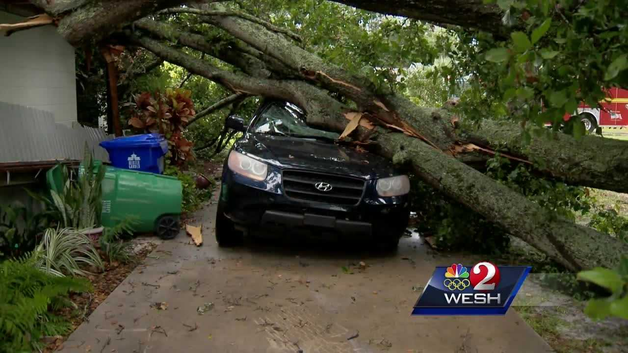 Several homes and vehicles sustained significant damage Friday when strong storms moved through Winter Garden.