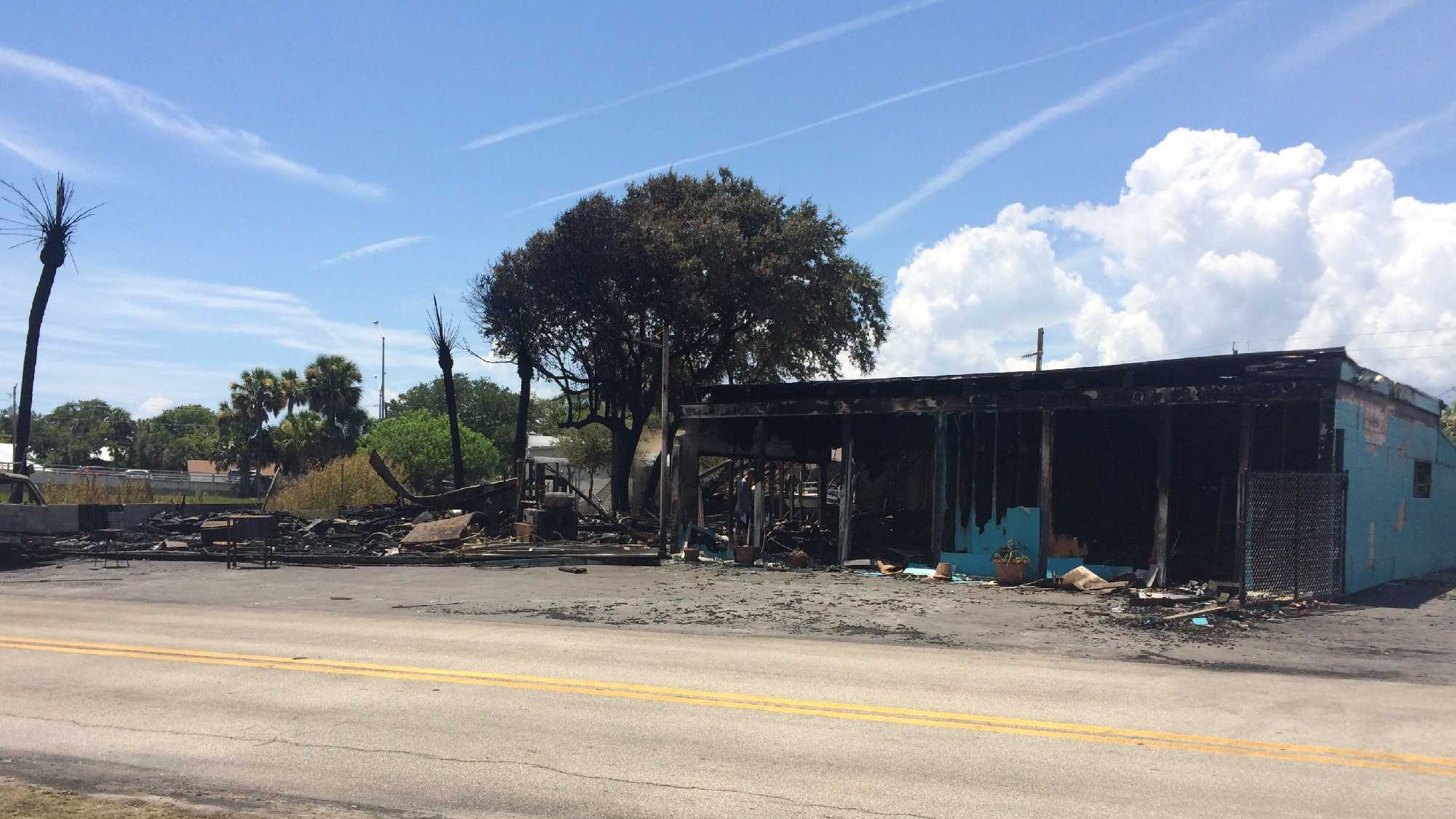 The state fire marshal is investigating a suspicious fire that destroyed Action Jet Ski Rentals in Daytona Beach.