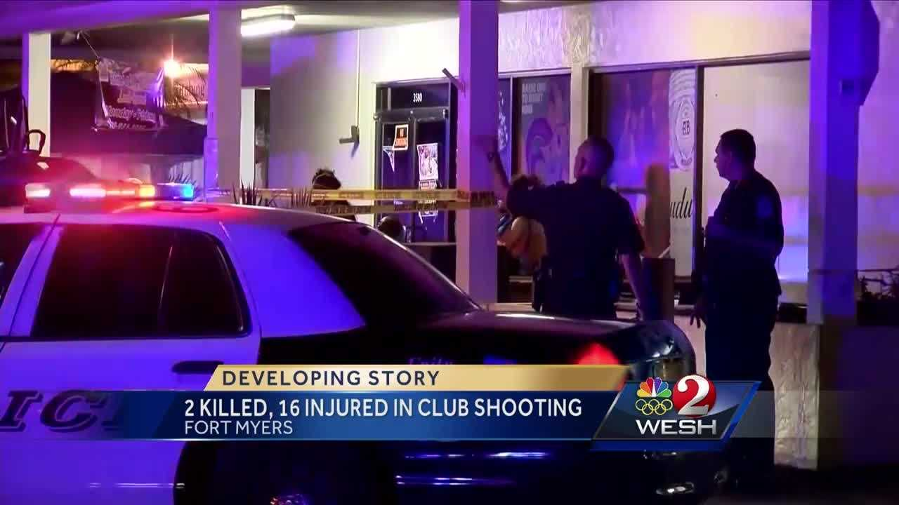 Authorities say two people have been killed and more than a dozen shot at a nightclub in Fort Myers.