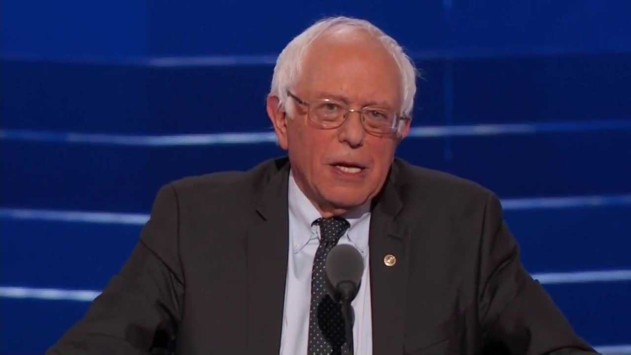 "Bernie Sanders says Hillary Clinton will make ""an outstanding president."""