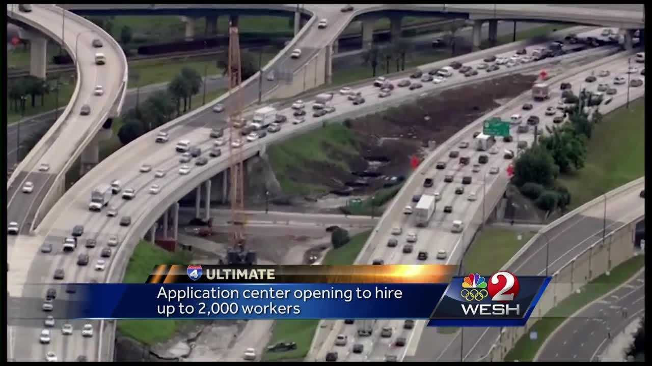 With 5 years to go, contractors for the $2.3 billion I-4 construction project are still hiring. Applications are accepted Tuesdays, Thursdays and Fridays between 8 a.m. and 12 p.m. and 1 to 4 p.m..