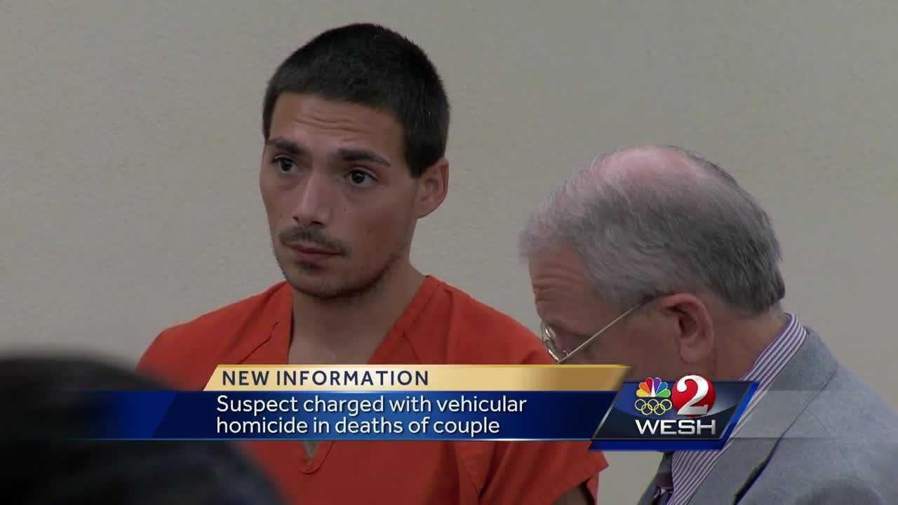 A man has been charged with vehicular homicide in the deaths of a Ponce Inlet couple.
