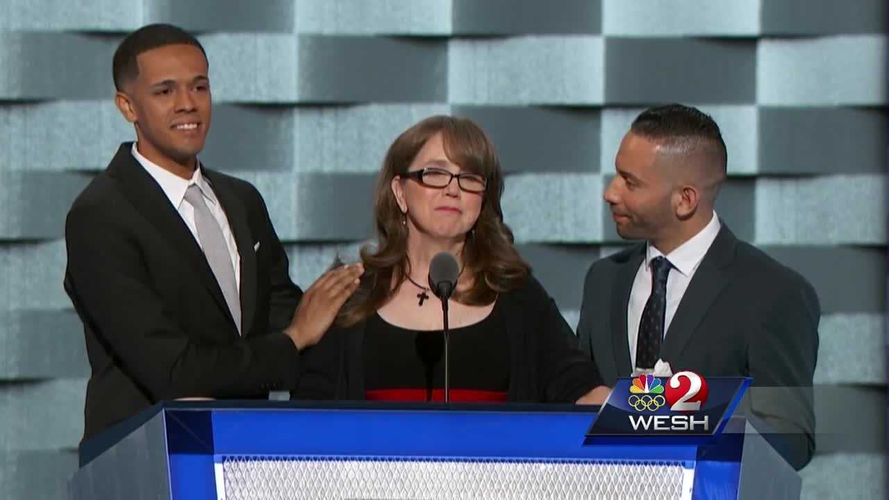 The mother of a man killed at Pulse nightclub during last month's mass shooting made an emotional plea for stricter gun laws during the Democratic National Convention Wednesday.