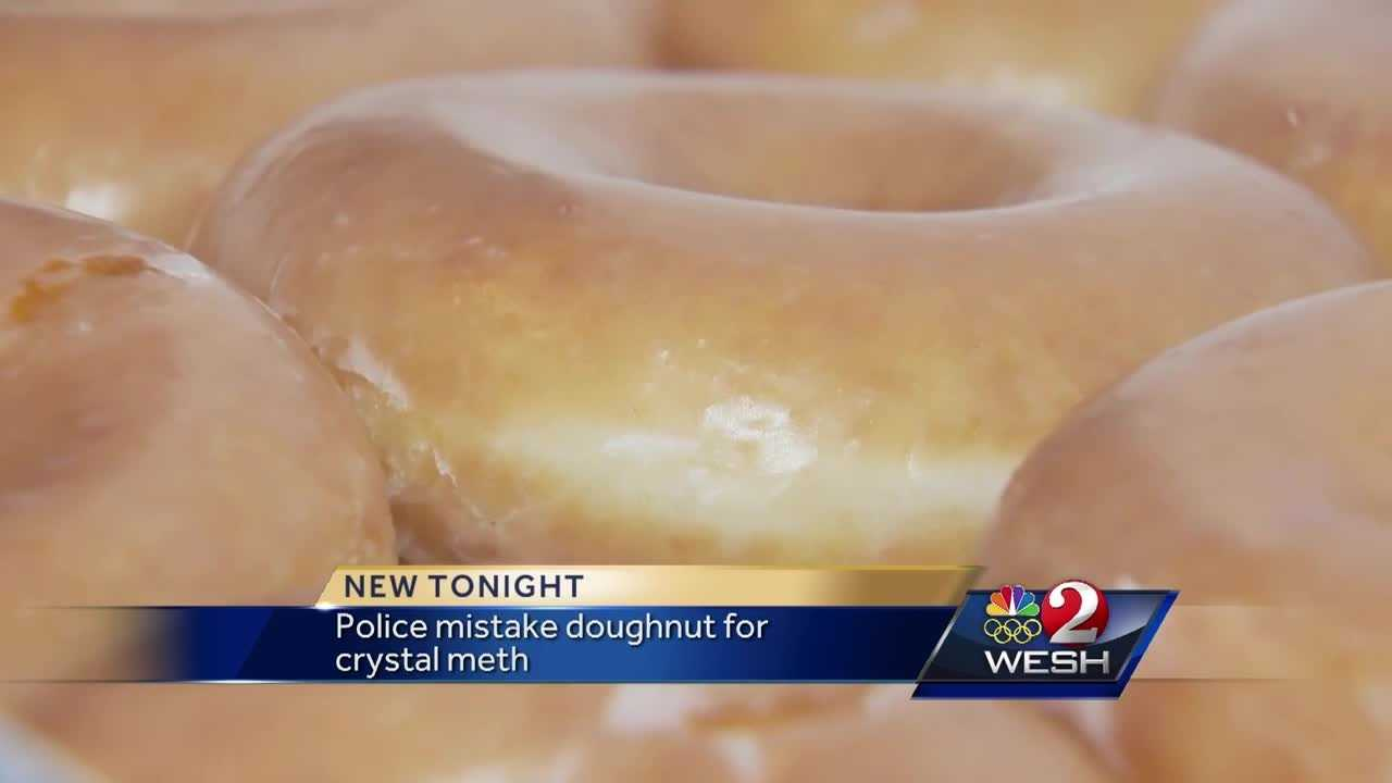 Police mistake doughnut for crystal meth