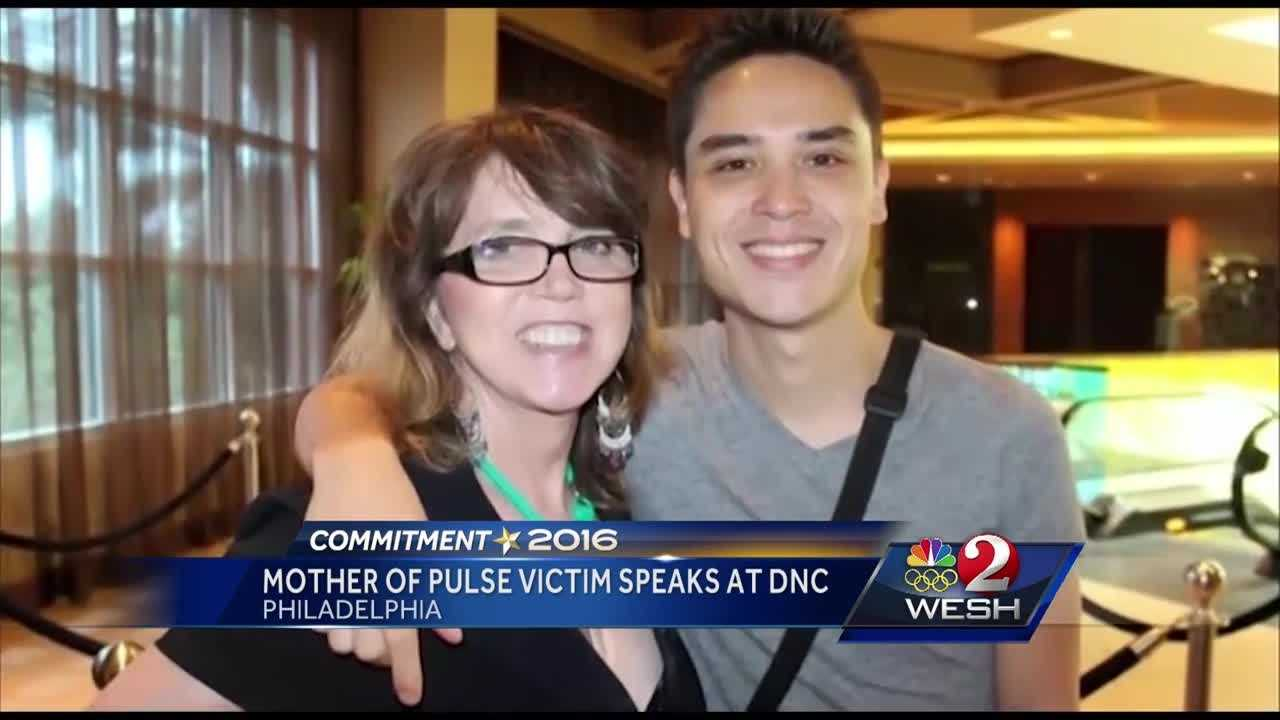 "The mother of a man who was killed last month at the Pulse nightclub made an emotional plea Wednesday at the Democratic National Convention for what she called ""common-sense"" gun policies."
