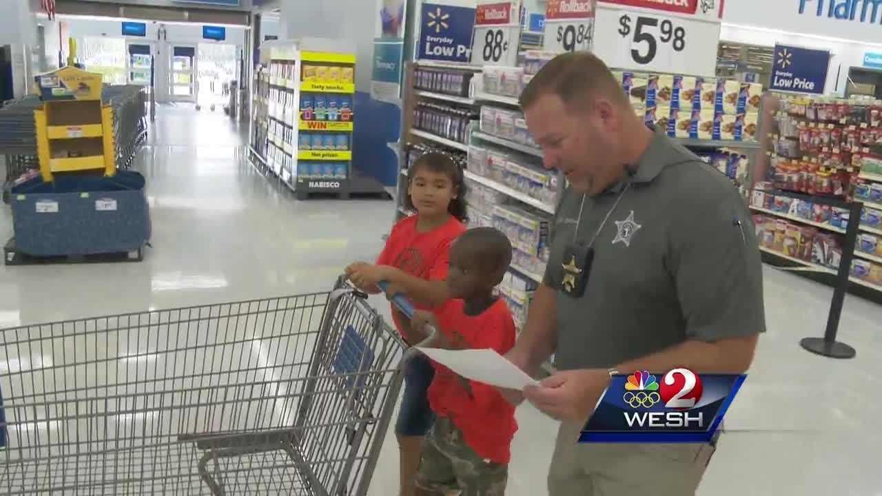 "Seminole County deputies helped kids get back to school in style with their 11th annual ""Shop with the Sheriff"" event."