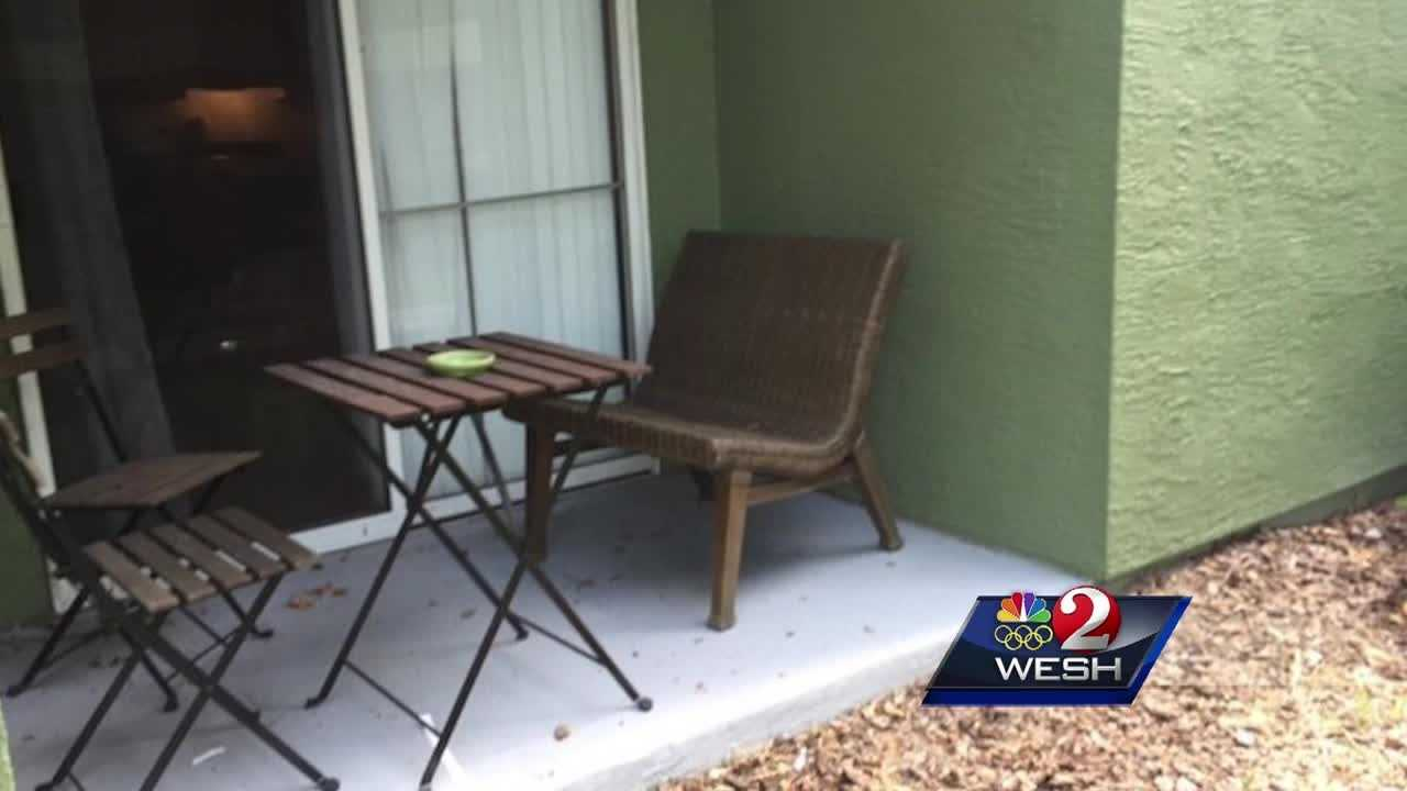 An hours-old baby was found abandoned on the back porch of an Orange County apartment.