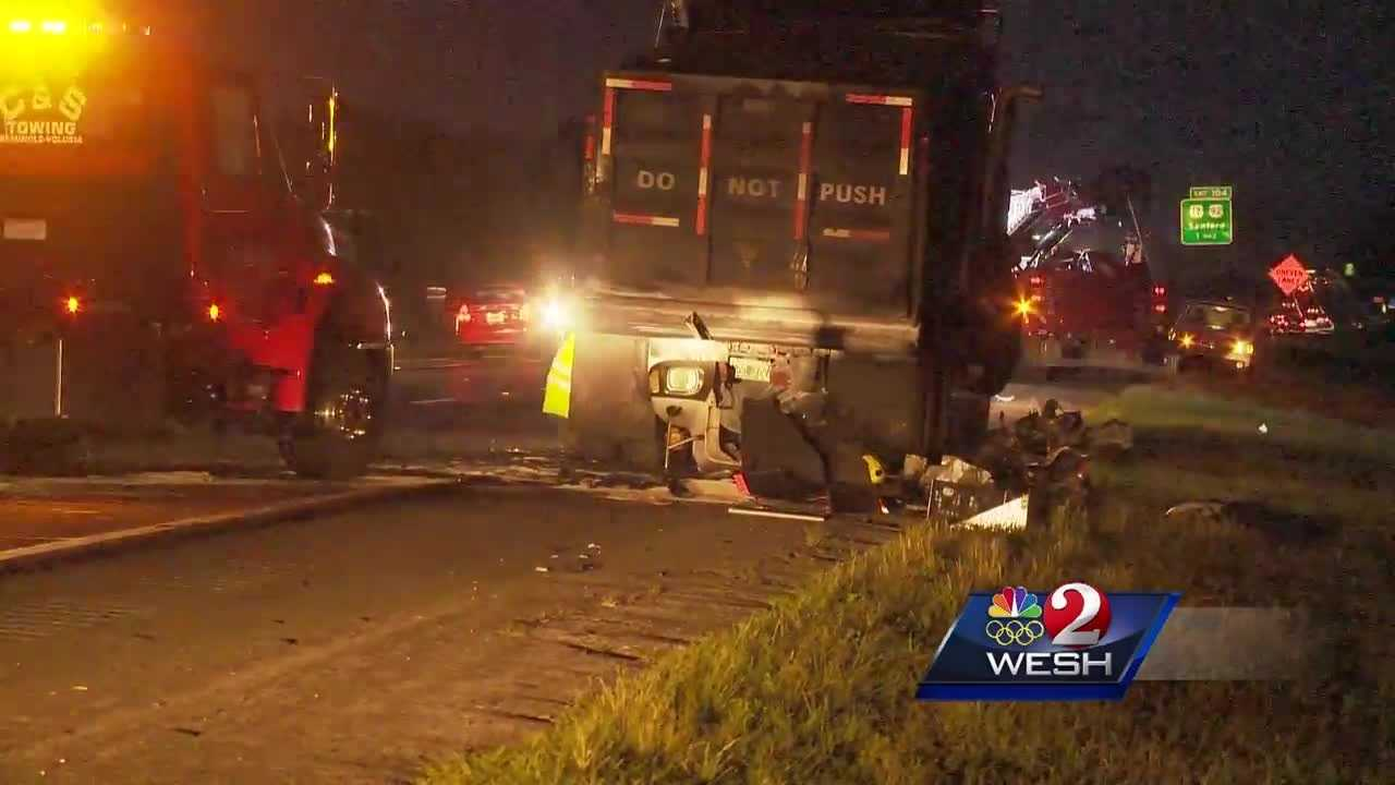 An early-morning crash backed up traffic for miles along Interstate 4 near DeBary on Monday.