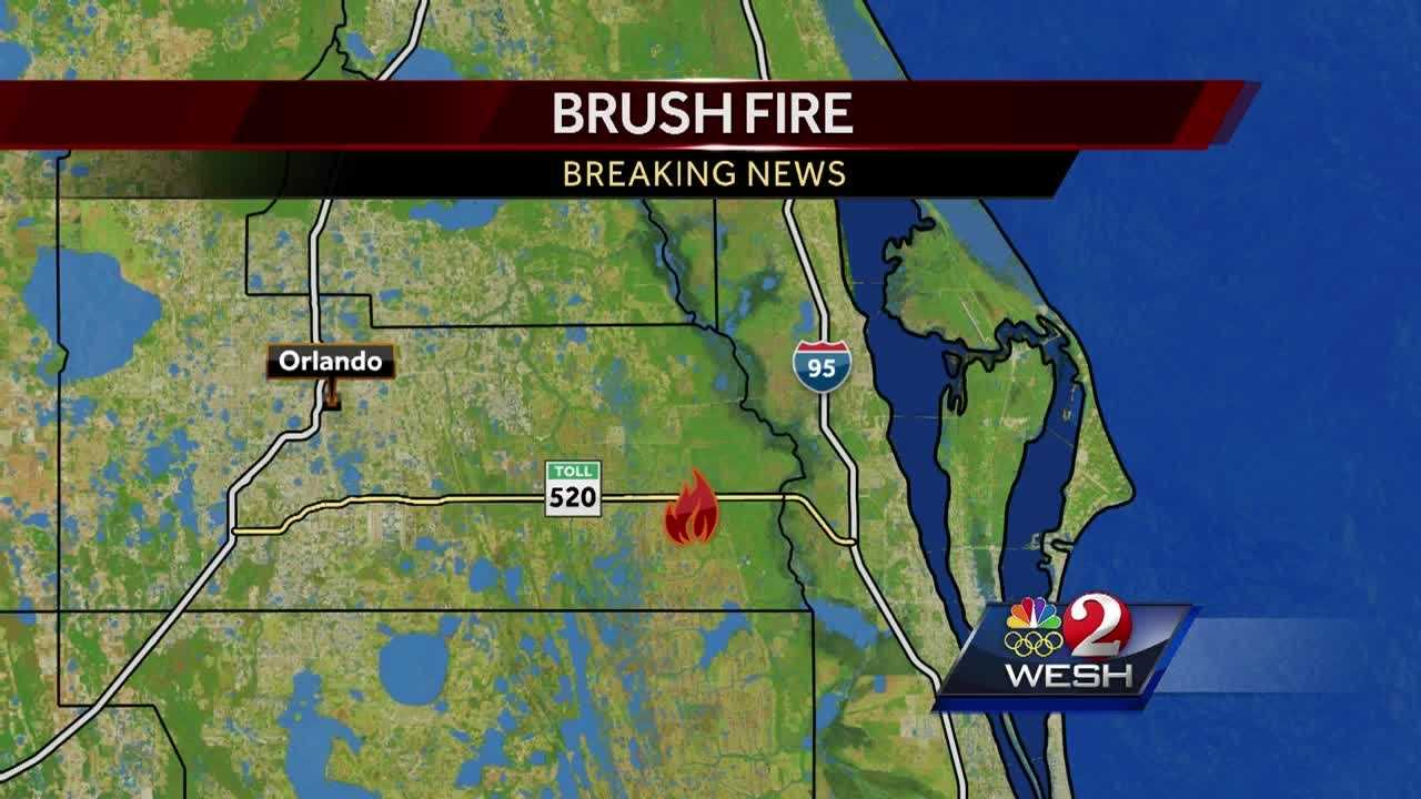 The Florida Forest Service is at the scene of a 2-acre brush fire in the 2200 block of State Road 520 near Christmas in Orange County.