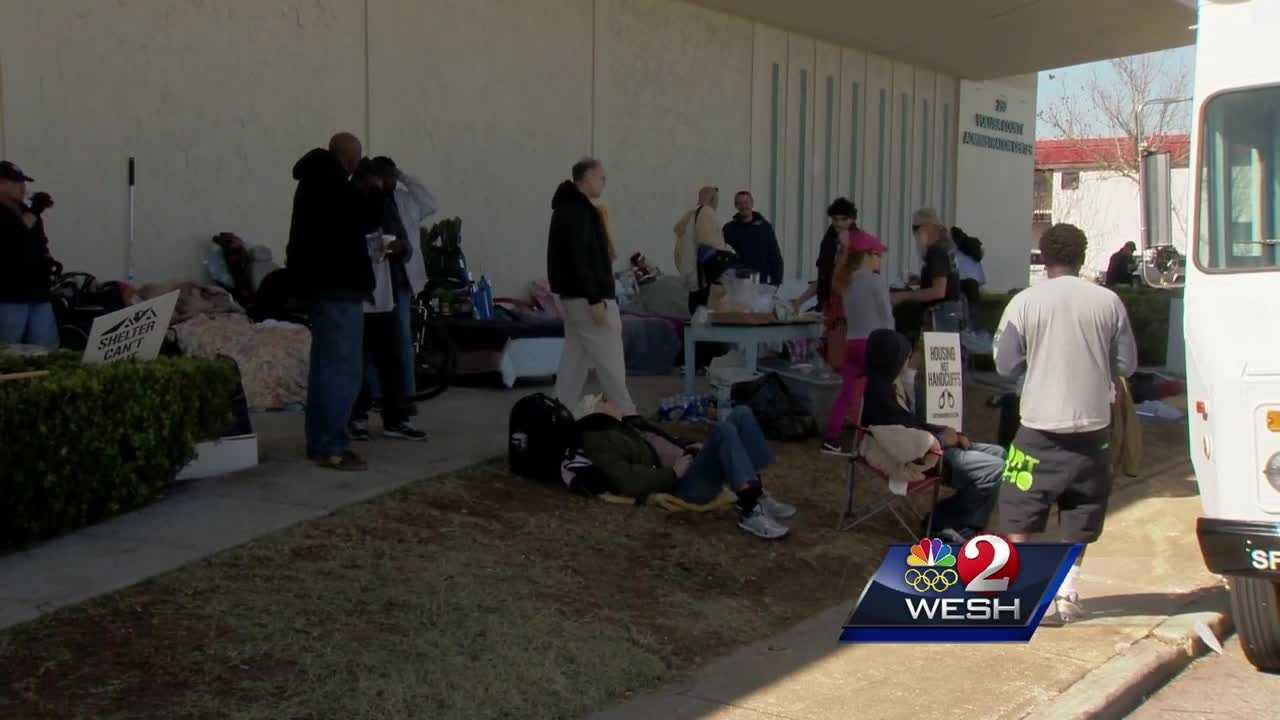 Dozens of homeless men and women are living in two motels on U.S. 1 in Daytona Beach. They moved in Monday&#x3B; one man told WESH 2 News that he and others feel better already. Claire Metz reports.