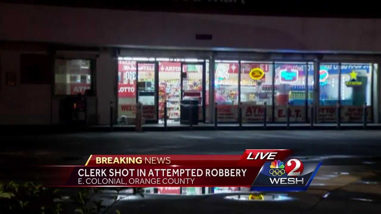 A store clerk was shot during an armed robbery at a Citgo gas station on E. Colonial Drive Tuesday night, authorities said. Adrian Whitsett brings us the latest report.
