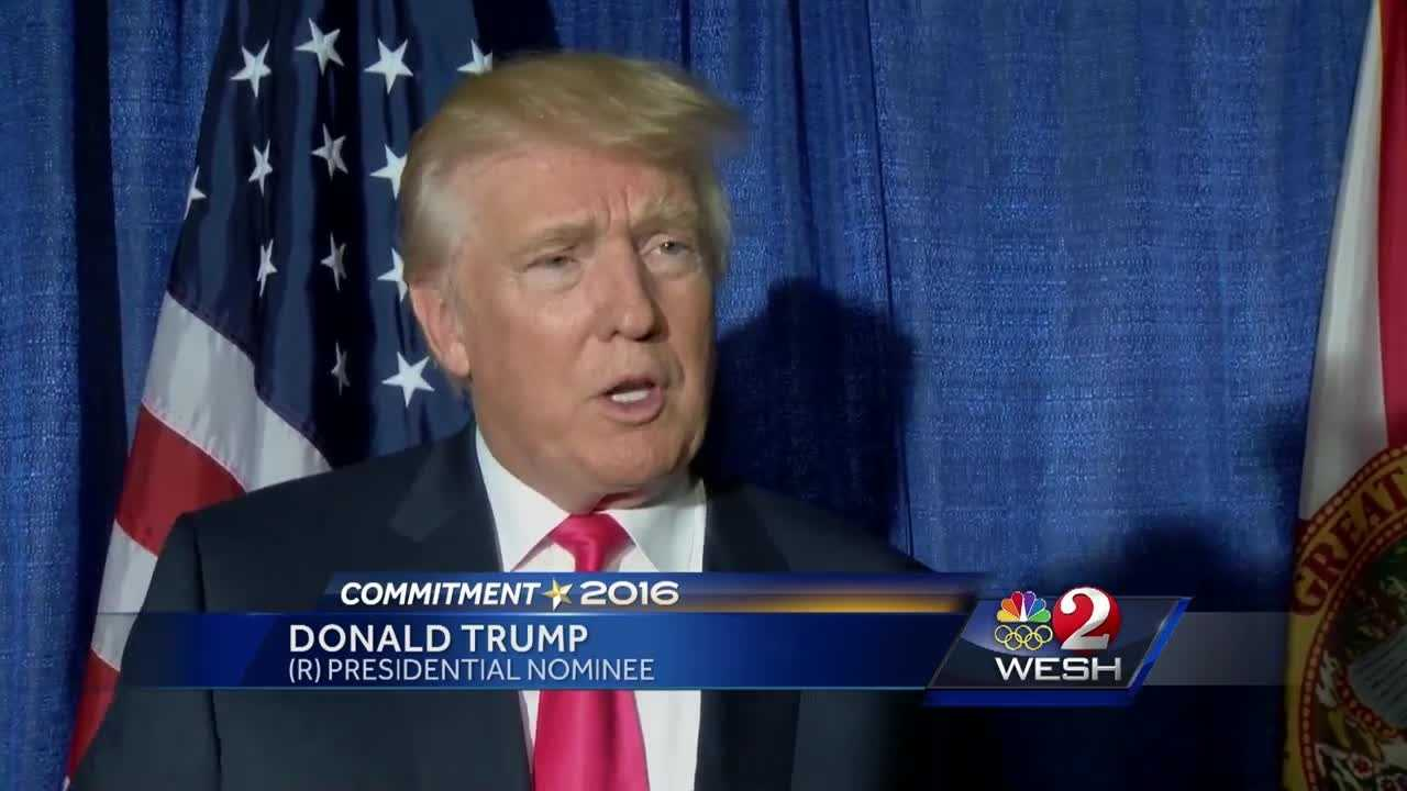 WESH 2's Greg Fox sat down with Donald Trump Wednesday in Volusia County. (@GregFoxWESH) reports.