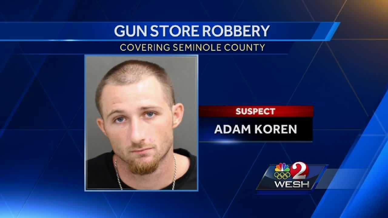 An arrest was made in a gun store robbery that happened in July. Surveillance cameras captured suspects making repeated trips into and out of a Casselberry gun store in the early morning of July 13. Dave McDaniel reports.