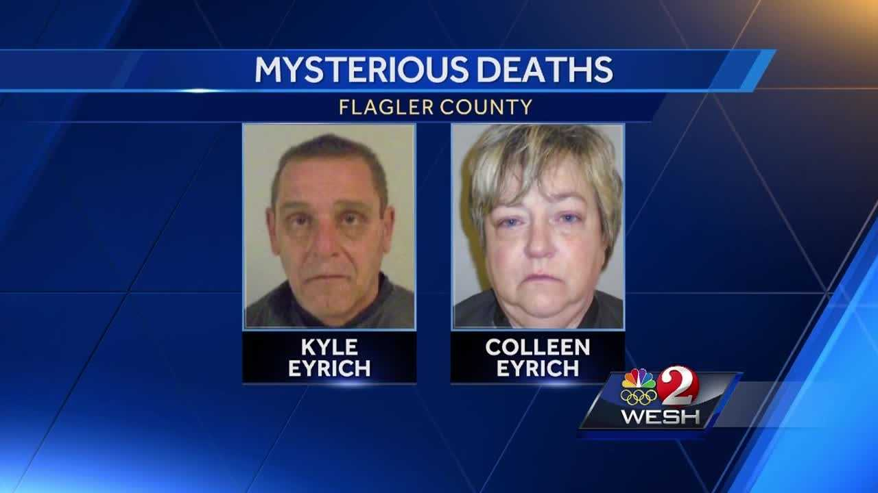Investigators in Flagler County have identified a couple found dead in a Palm Coast home as the owners, Kyle and Colleen Eyrich. Claire Metz reports.