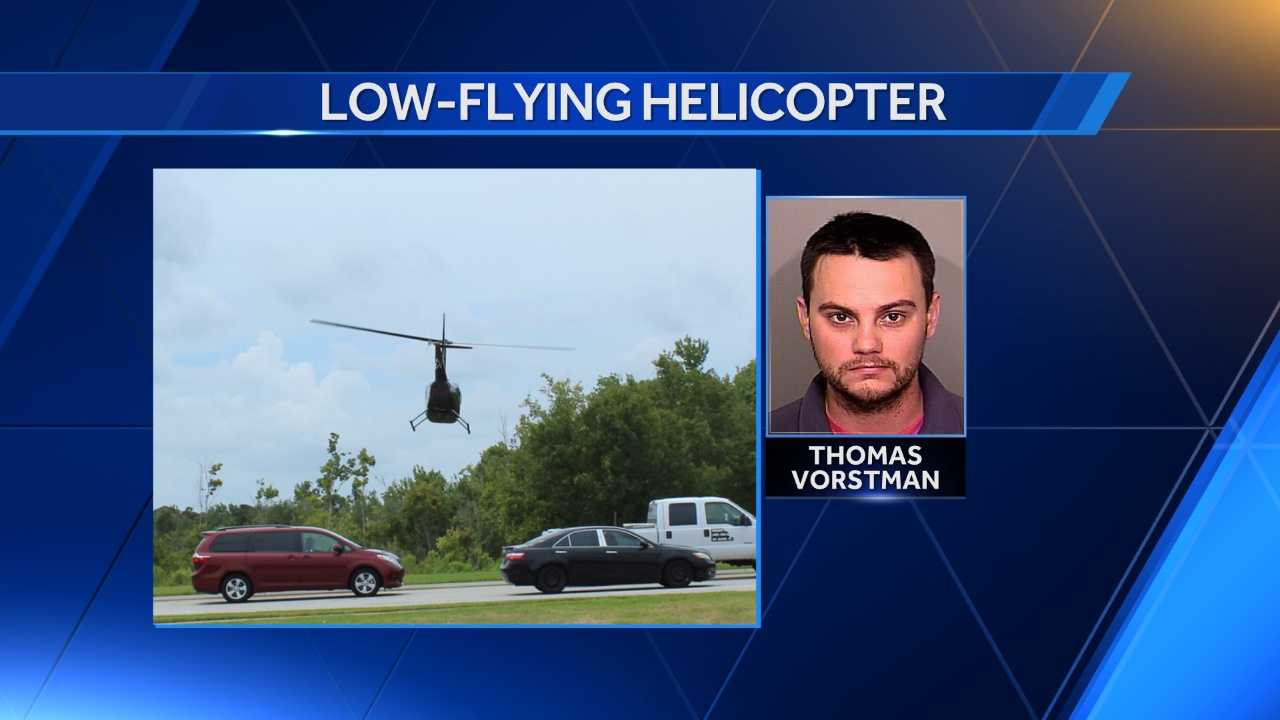A helicopter pilot was arrested Saturday evening after Osceola County Sheriff's Office deputies who observed the chopper flying too low.