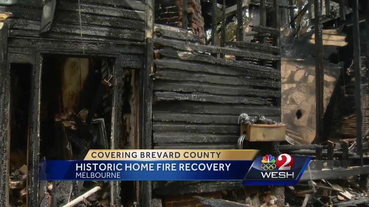 The spirit is building in Melbourne to help in the recovery of one of Central Florida's oldest homes after a disastrous fire. Dan Billow reports.