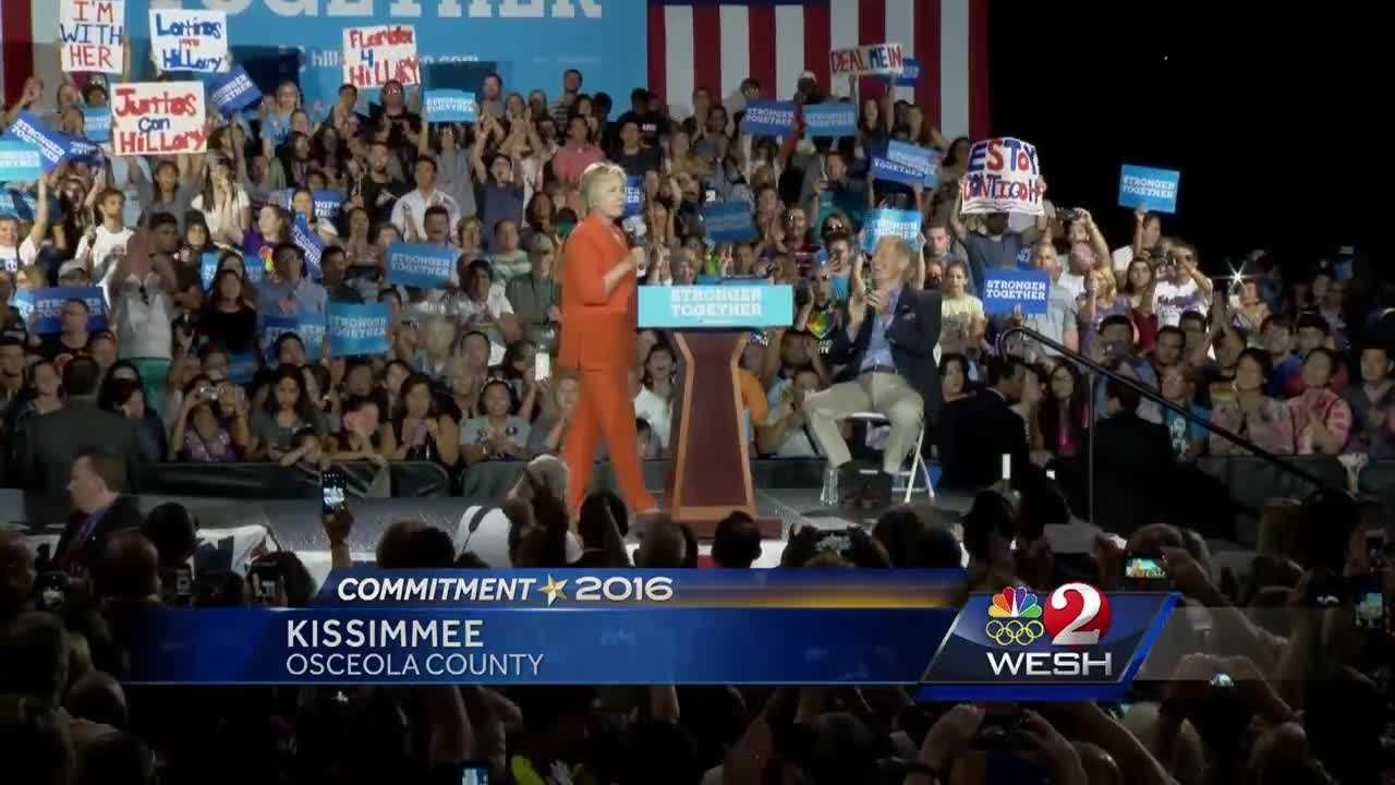 The battle for the I-4 corridor is on full display in the race for president of the United States. Hillary Clinton made a push for votes in Kissimmee Monday. Donald Trump will speak in the same location in just a few days. Greg Fox reports.