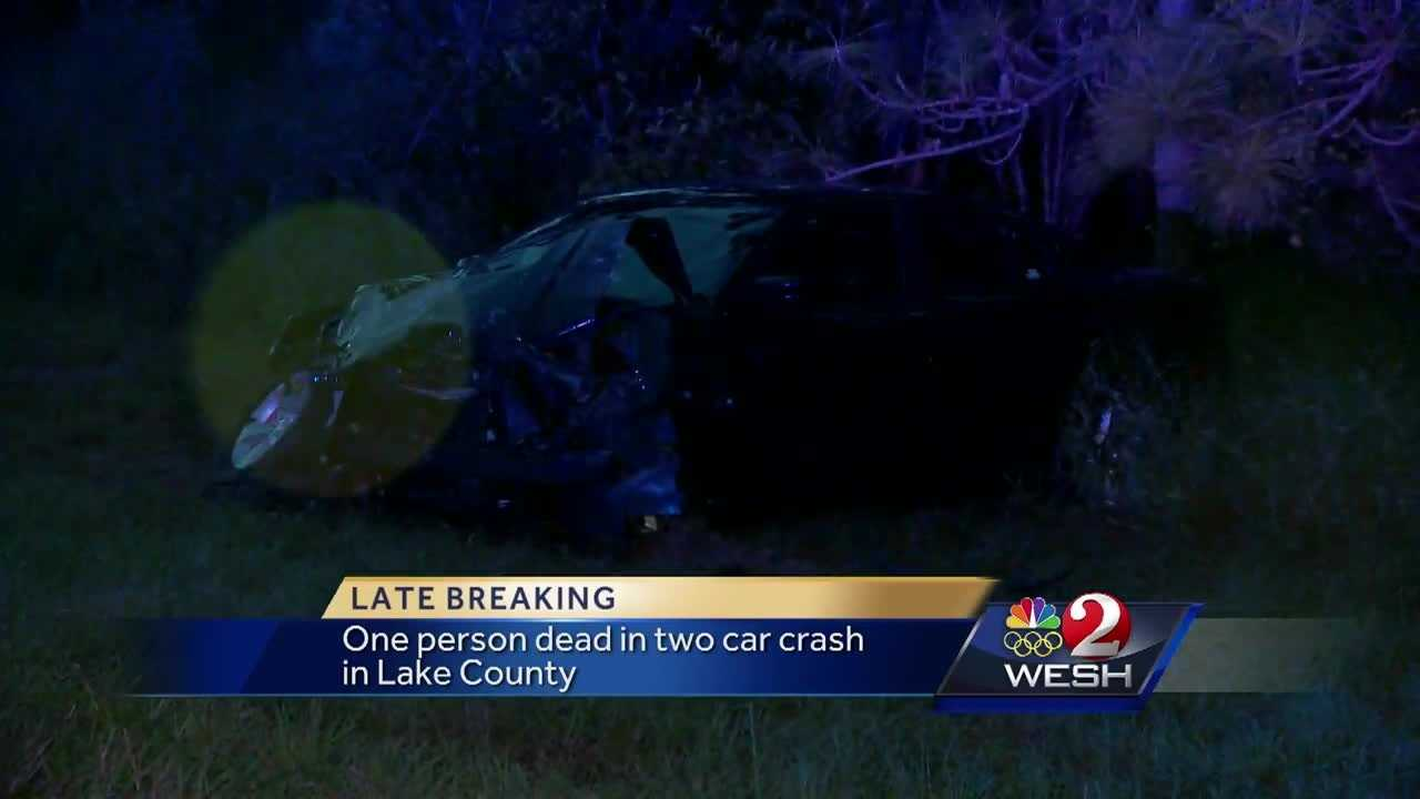 At least one person was killed when two cars collided on Thrill Hill Road and County Road 44-A around 6:30 p.m. Monday, according to the Florida Highway Patrol. Adrian Whitsett reports.