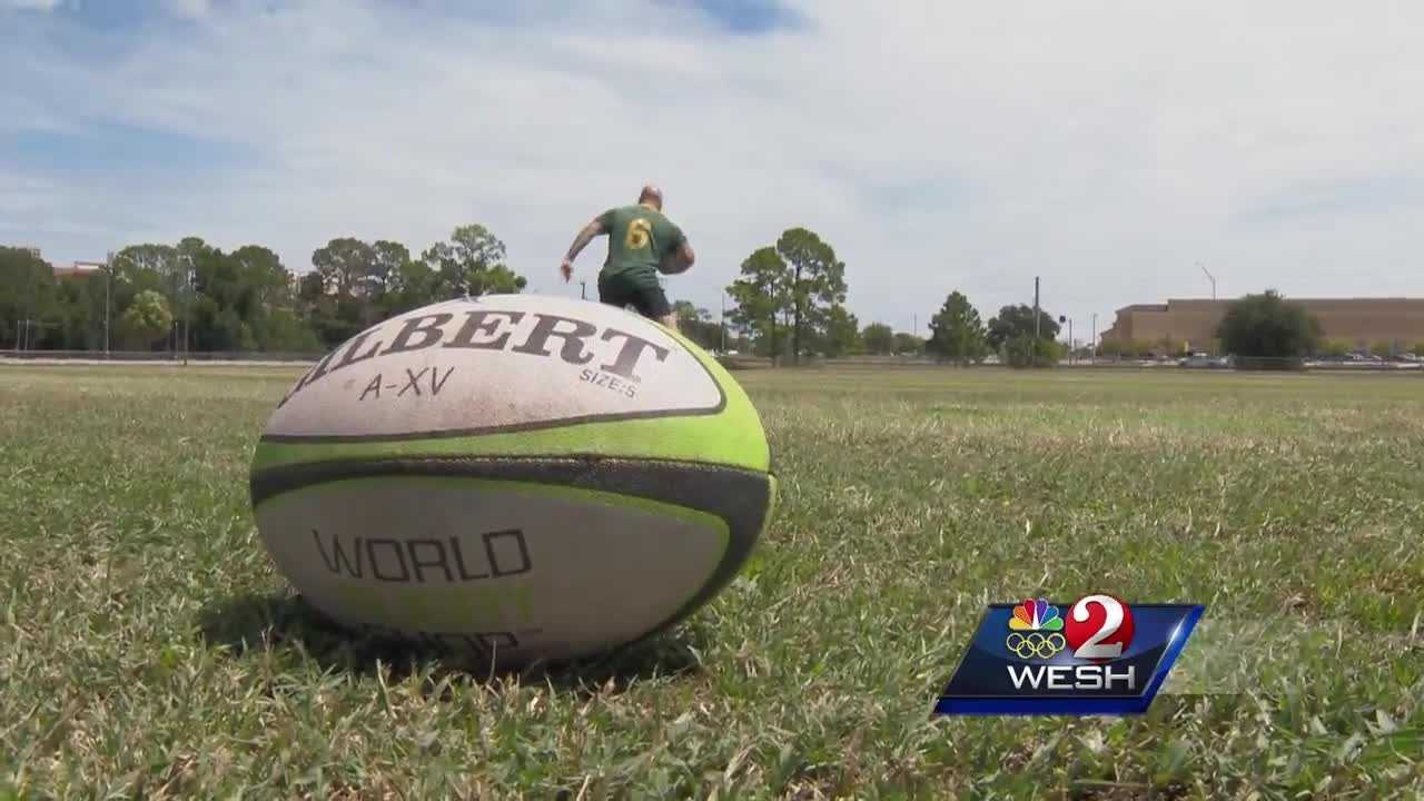Perry Baker played football at Spruce Creek High School in Port Orange before switching sports to Rugby. Baker is now a star for the U.S. Olympic rugby team.