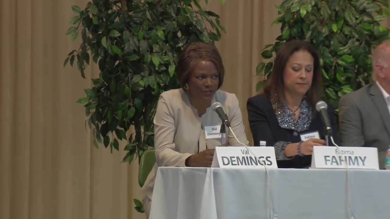 Candidates for Congress in Florida's 10th district discuss issues facing Central Florida.