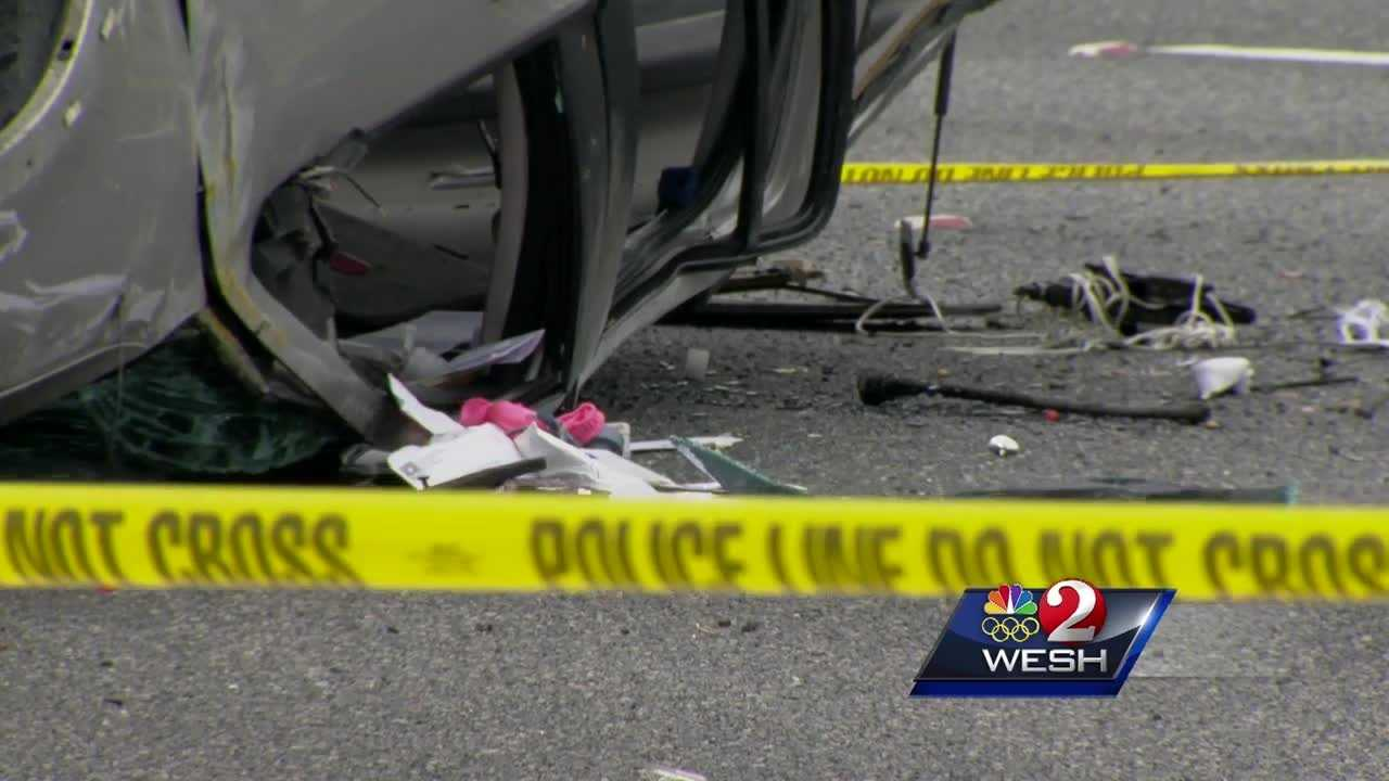 Eight people were hurt and a toddler was killed Tuesday in a Leesburg crash.