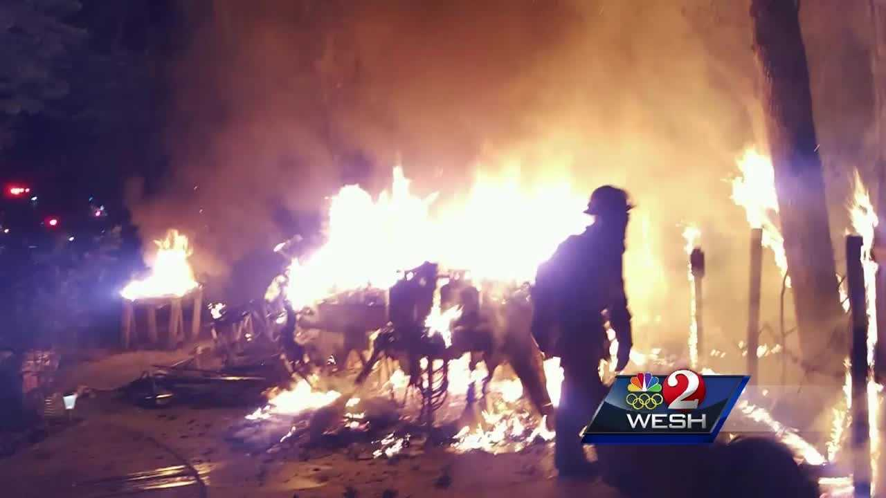 Friends of a Marion County man, killed in an overnight fire, are in shock. Photos show just how fierce those flames burned. Dave McDaniel reports.