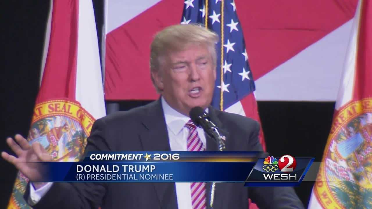 Donald Trump addressed voters Thursday in Kissimmee. Amanda Crawford reports.