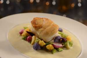 Ocean's Bounty Sustainable Fish - Summer's Harvest Vegetable Mélange, Savory Potato Beurre Blanc