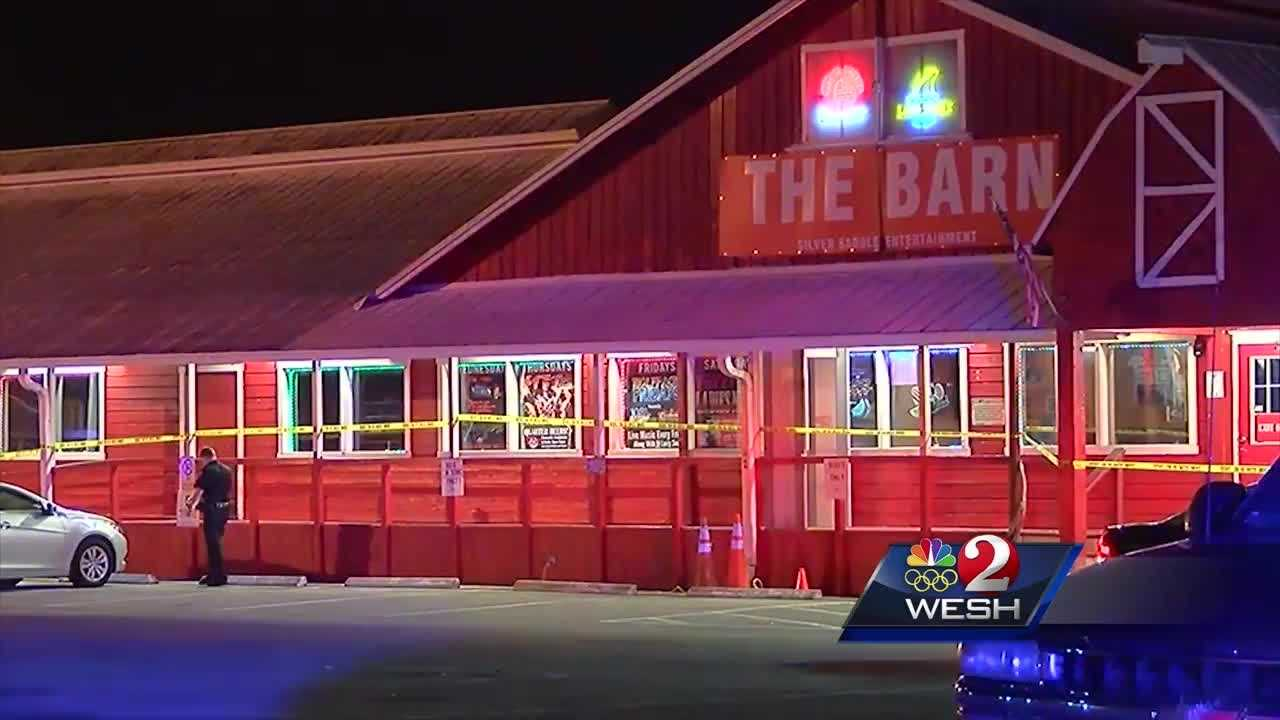 A Sanford bar is now a crime scene as police investigate a shooting that left a performer critically hurt overnight.