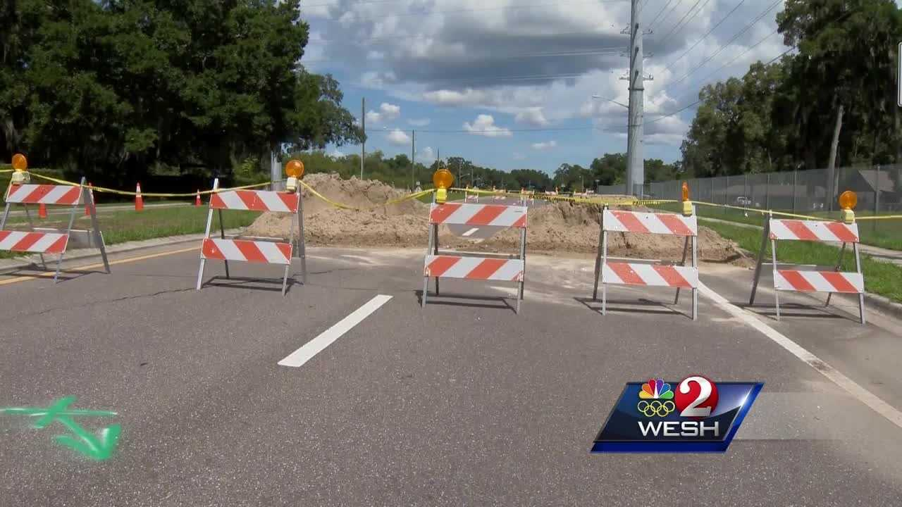 A driver in southeast Ocala noticed an unusual dip in the road over the weekend and when city crews came to inspect they found five sinkholes, one of which is 30 feet deep.