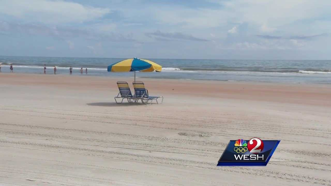 A beach vendor is in the hospital after a lightning strike hit the beach Sunday. Claire Metz explains.