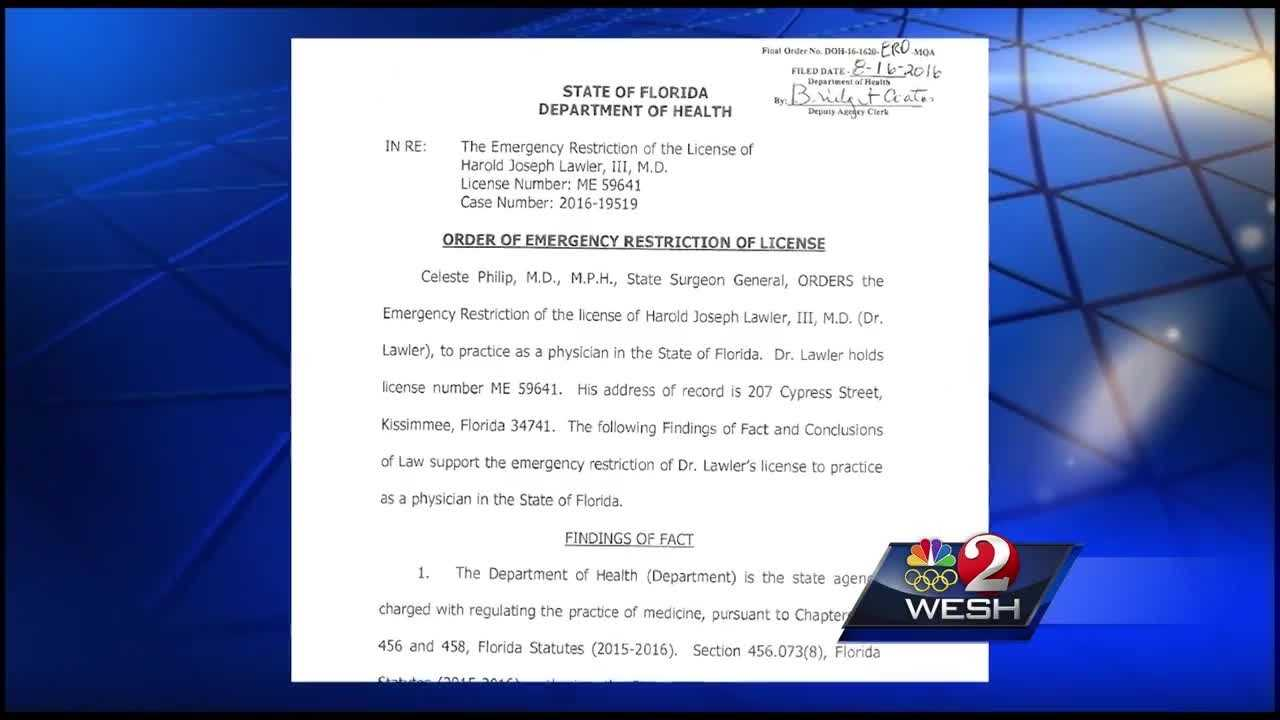 A Kissimmee doctor has had his medical license restricted after deputies say he overprescribed medication to an undercover agent for nearly a year. Chris Hush reports.
