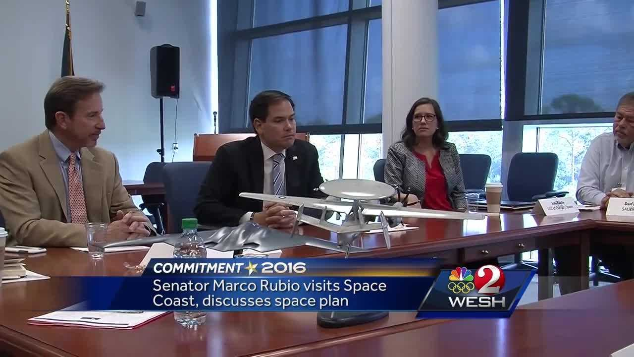 Florida Senator Marco Rubio paid a visit to the Space Coast on Friday.He put a high priority on the military use of space. Dan Billow reports.