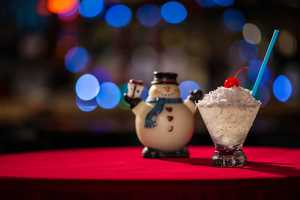 Coconuts Roasting on an Open Fire, a craft snow cone at Frosty's Christmastime Lounge.