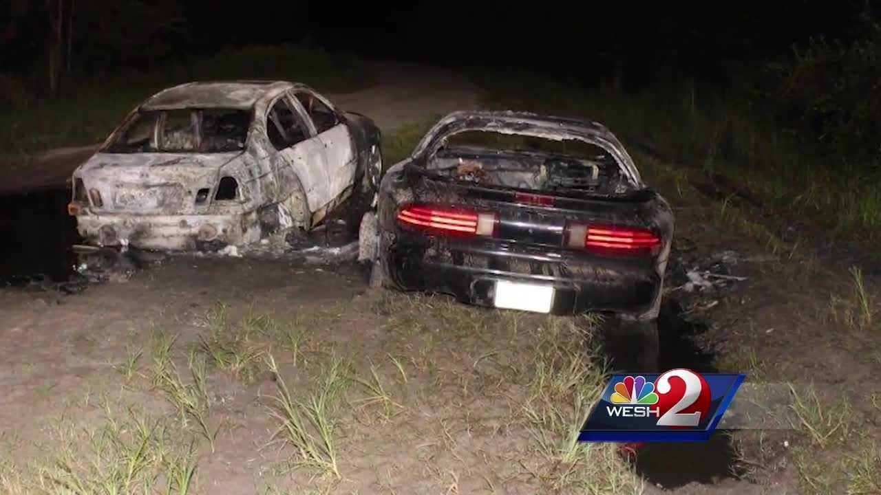 WESH 2 News is learning more about two cars that were found engulfed in flames Sunday night. One of the cars contained a body and the death is considered suspicious. Bob Kealing reports.