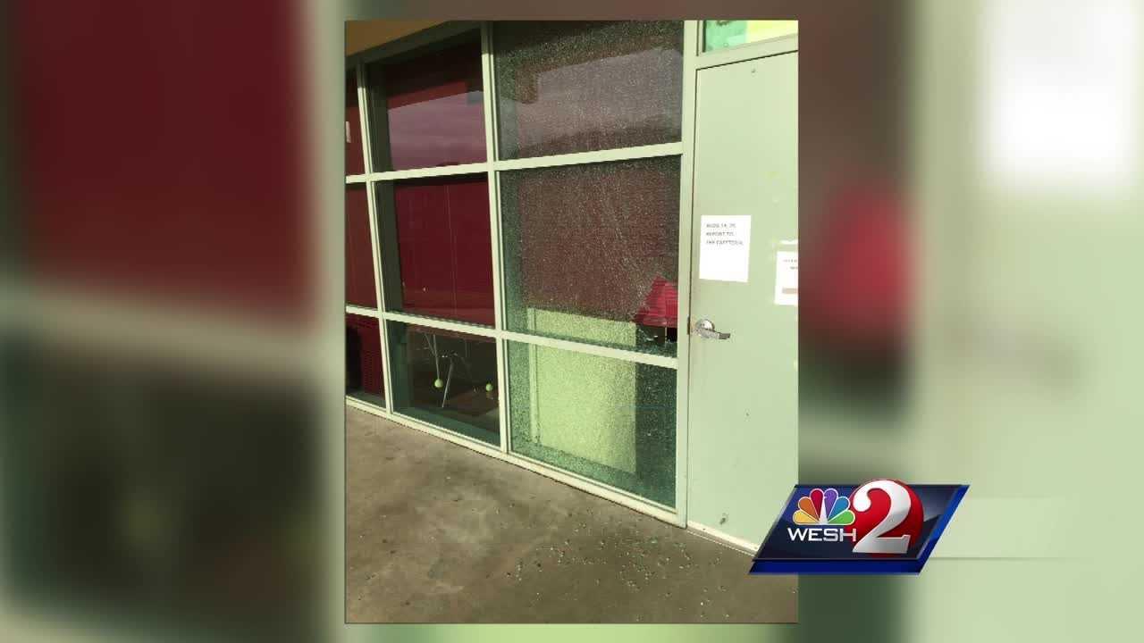 DeLand High School was badly damaged by overnight vandalsim.