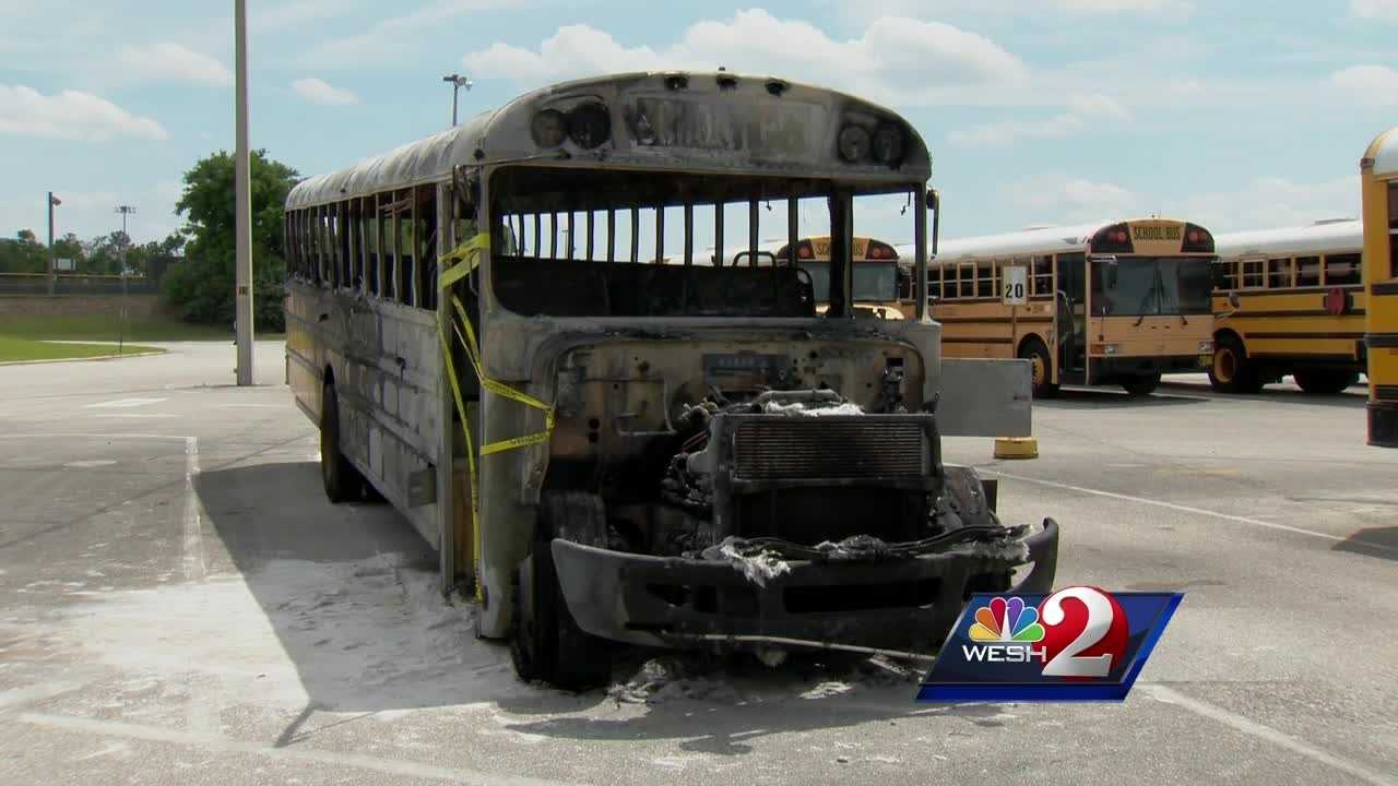 We now know what caused an Orange County school bus to erupt in flames back in April. Matt Grant explains.