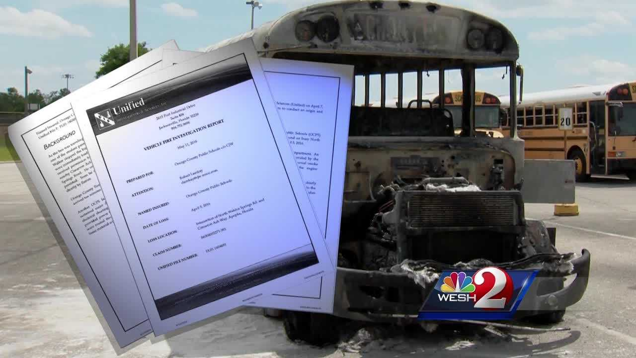 A school bus fire in April was caused by an electrical short in the bus's engine, WESH 2 News has learned. The school district has 107 buses with the same type of engine. Matt Grant investigates.