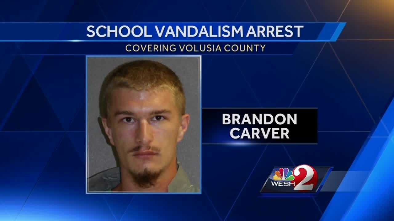 Police in DeLand announced the arrest of several people who are accused of vandalizing school property at DeLand High School. Dave McDaniel has the story.