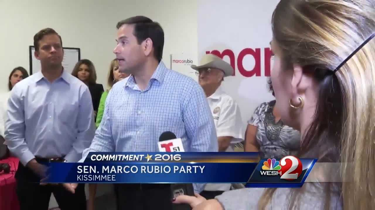 Despite polls that show Rubio up by close to 40 points on his nearest Republican challenger, Carlos Beruff, Rubio was taking no chances on Monday. Greg Fox (@GregFoxWESH) has the story.