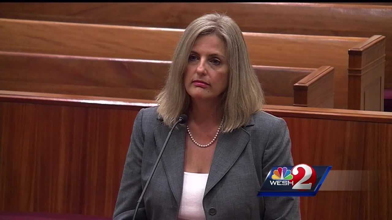 A Seminole County judge who made national headlines after berating and jailing a domestic violence victim was reprimanded Tuesday. Alex Villarreal reports.