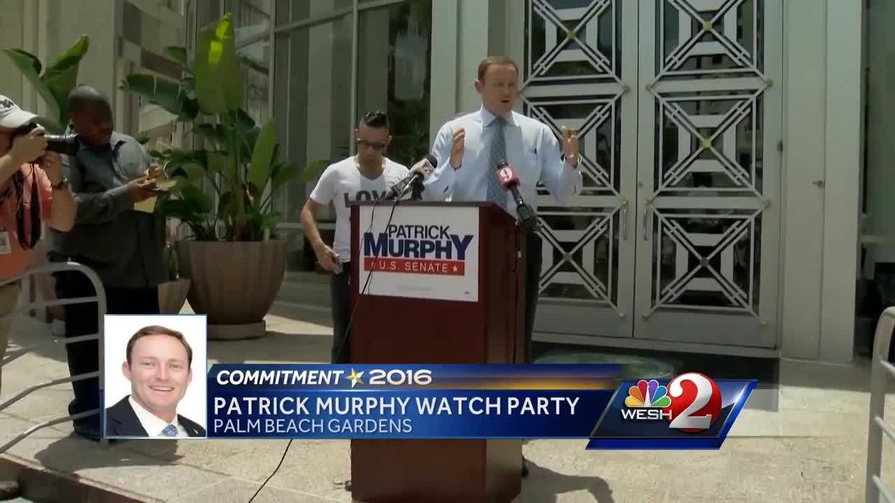 Patrick Murphy is holding a watch party in Palm Beach Gardens Tuesday, saying he feels confident and excited for the night ahead. Amanda Crawford reports.